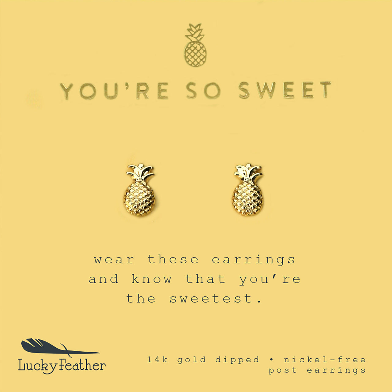 New Moon Gold Earrings - SWEET/PINEAPPLE