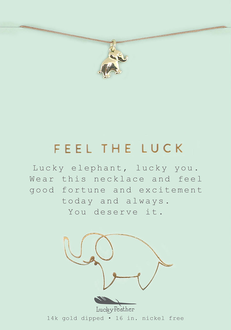 Feel the Luck - Gold Elephant Necklace