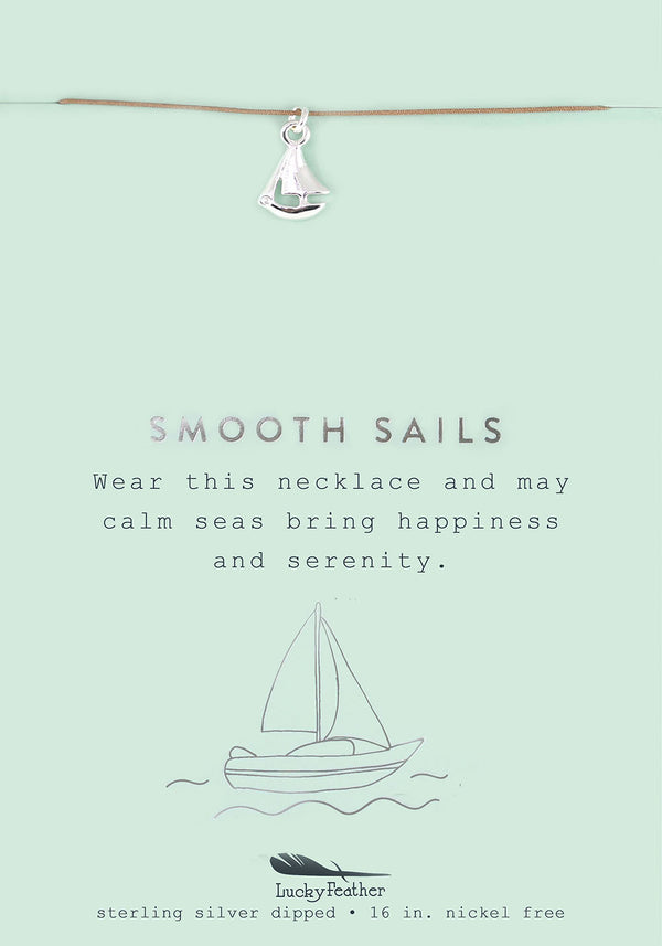 Smooth Sails - Silver Sailboat Necklace