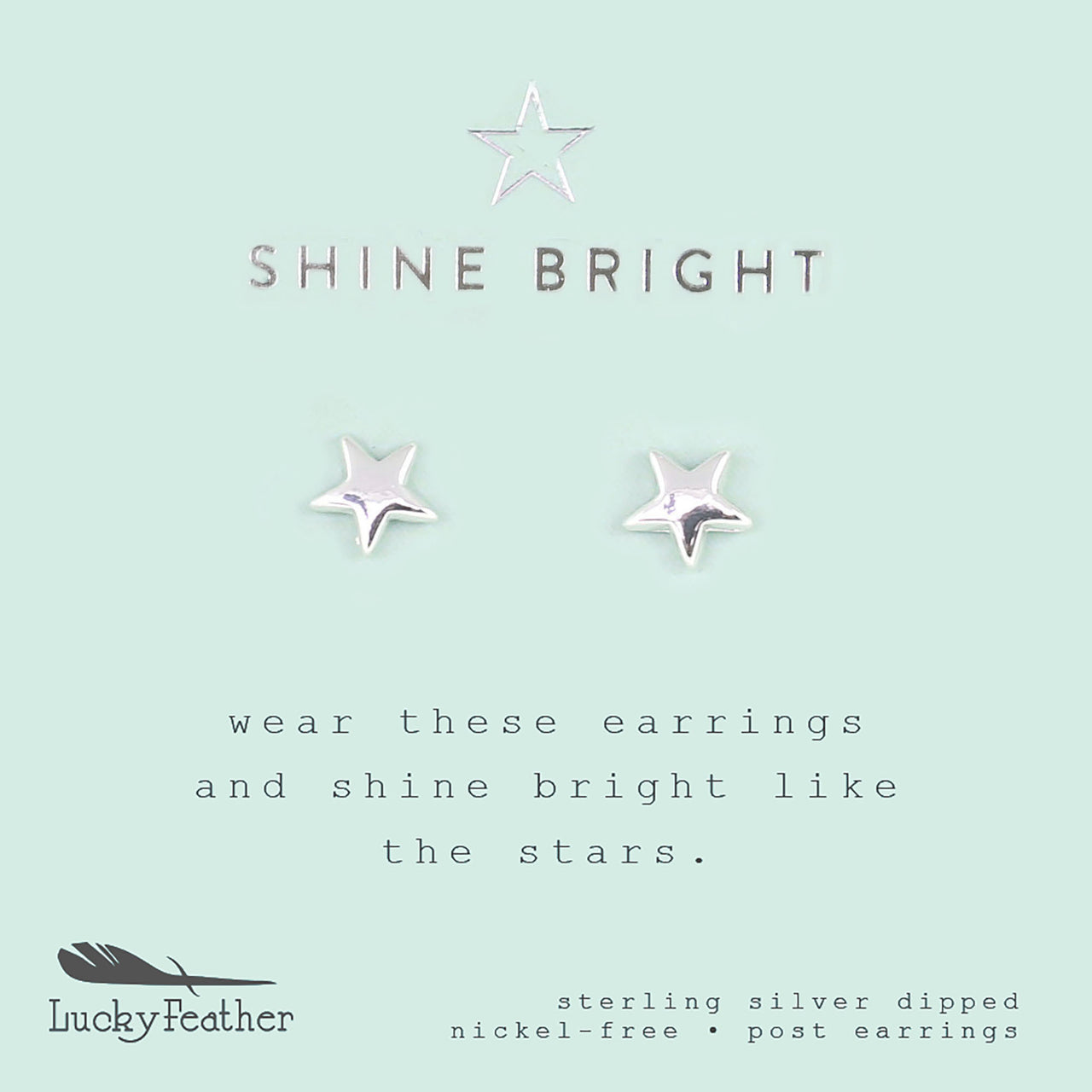 New Moon Silver Earrings - SHINE/STAR 4pk