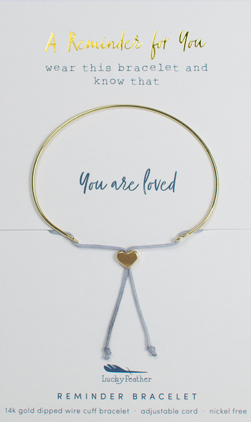 Reminder Bracelet - Gold - LOVED