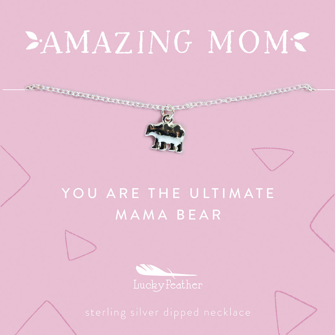 AMAZING MOM Necklace - Mama Bear