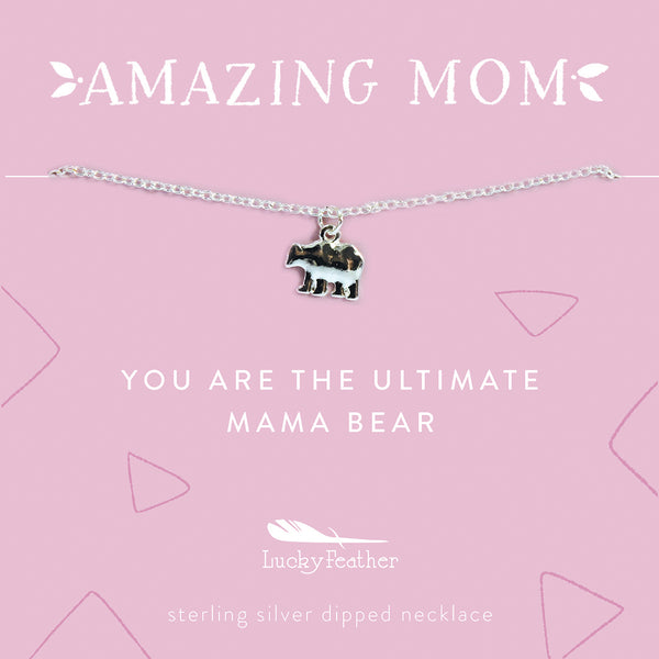 AMAZING MOM Mother's Day Necklace - Mama Bear