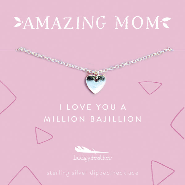 AMAZING MOM Necklace - Love Heart