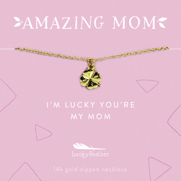 AMAZING MOM Mother's Day Necklace - Lucky Clover