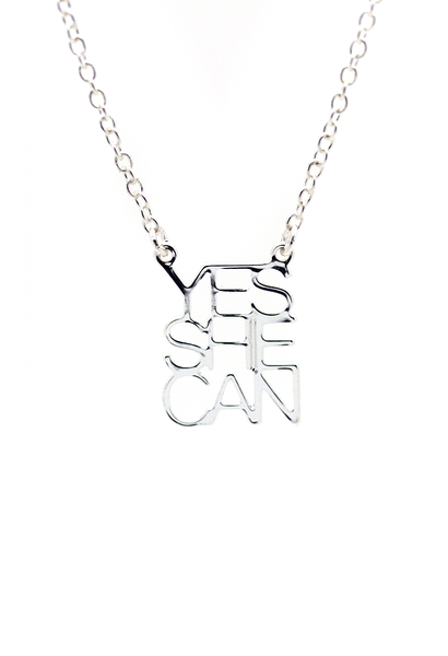 Yes She Can Necklace