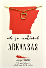 Arkansas State Necklace