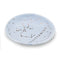 Zodiac Ring Dish– Glazed Ceramic Jewelry Tray with Astrological Constellation Depicted in Metallic Gold - SAGITTARIUS