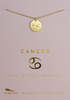 "Lucky Feather Cancer Zodiac Sign Constellation Pendant Necklace for Women, 14K Gold-Dipped with Adjustable 16"" – 18"" Chain"