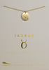 "Lucky Feather Taurus Zodiac Sign Constellation Pendant Necklace for Women, 14K Gold-Dipped with Adjustable 16"" – 18"" Chain"