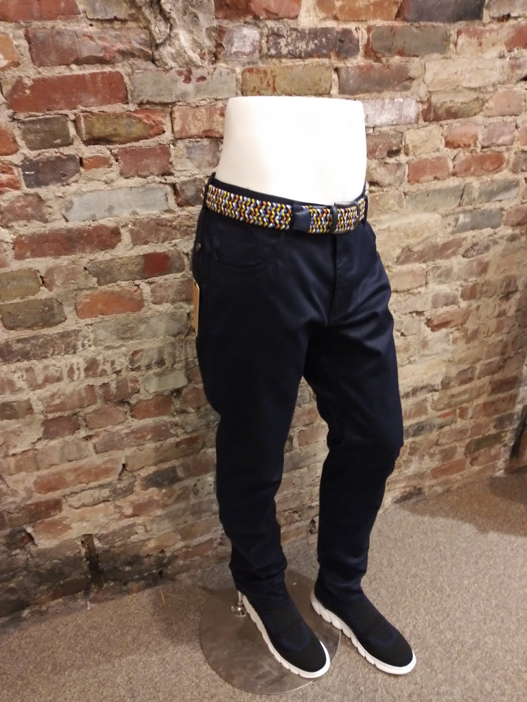 ENZO NAVY COTTON PANT