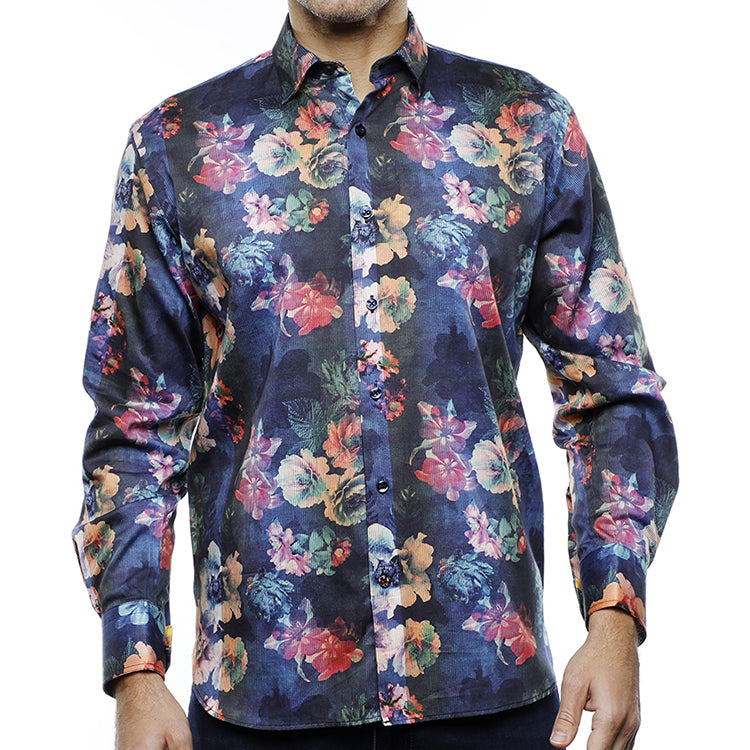 Luchiano Floral cotton shirt