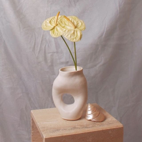 Summer School Sculptural Vessel Matte White