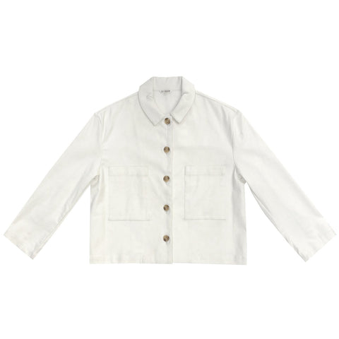 Ali Golden Cropped Jacket Bone
