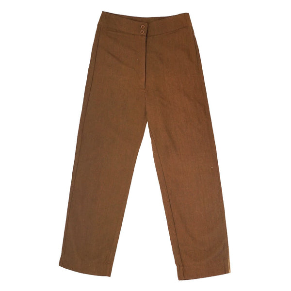 Ali Golden Silk Fly Front Pant Copper