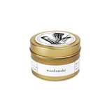 Brooklyn Candle Studio Gold Travel Candle - Woodsmoke