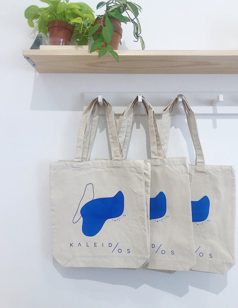 Kaleidos Abstract Tote Blue