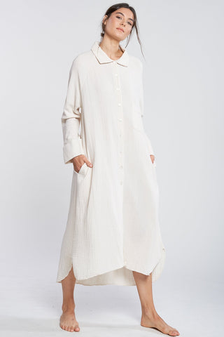 FILOSOFIA | Allison Button Down Dress in Cloud