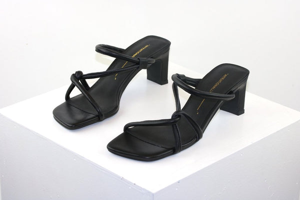 Intentionally Blank | Willow Strappy Heels in Black
