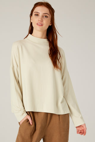 Filosofia Jay Mock Neck Top in Cloud
