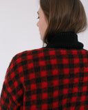 Kaleidos Vintage Checkered Fleece Jacket