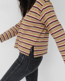 Side Party Jane Oversized Multistripe Shirt, Kaleidos