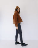 Side Party Dede Sheepskin Zipped Jacket, Kaleidos