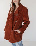 Kaleidos Vintage Wide Corduroy Double Breasted Jacket