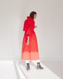 Kaleidos Vintage Red Trench Coat