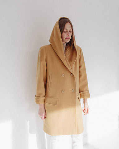 Kaleidos Vintage Wool Hooded Coat