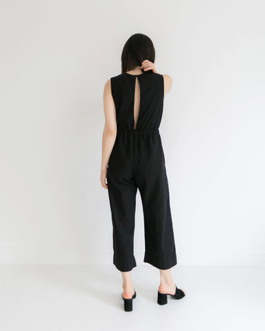 Ali Golden Slit Back Jumper in Black