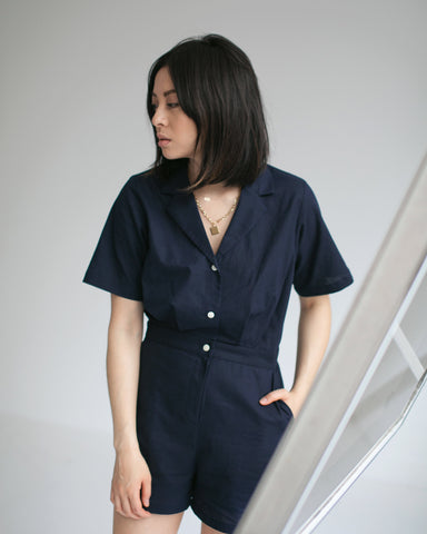 Side Party Marais Notch Collar Jumpsuit