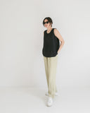 Kaleidos Vintage Pale Green High Waist Pant