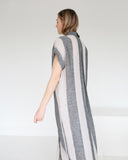 7115 by Szeki Stripe Maxi Shirtdress