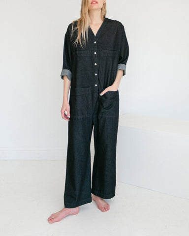 Ilana Kohn Tuck Coverall in Denim