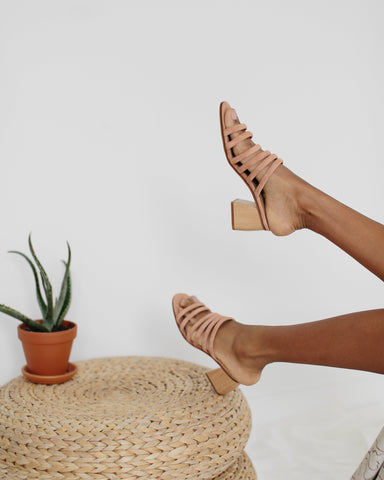 Paloma Wool Maria Sandals in Peach