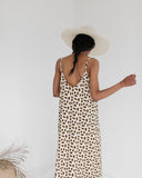 Ali Golden Guac Print Slip Midi Dress