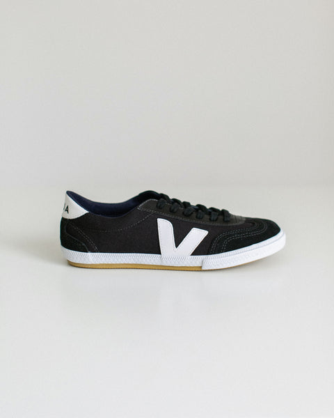 Veja Volley Canvas Black White