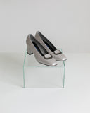 Kaleidos Vintage Silver Pump with Buckle