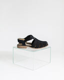 Kaleidos Vintage Black Canvas Sandals
