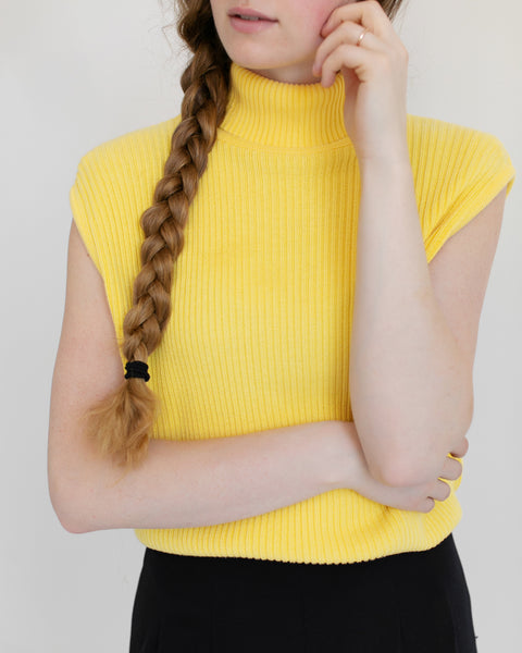 Kaleidos Vintage Lemon Sleeveless Turtleneck