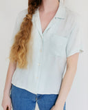 Kaleidos Vintage Silk Short Sleeve Blouse