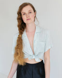 Vintage Silk Short Sleeve Blouse