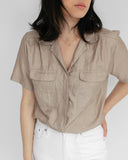 Kaleidos Vintage Safari Blouse in Champagne