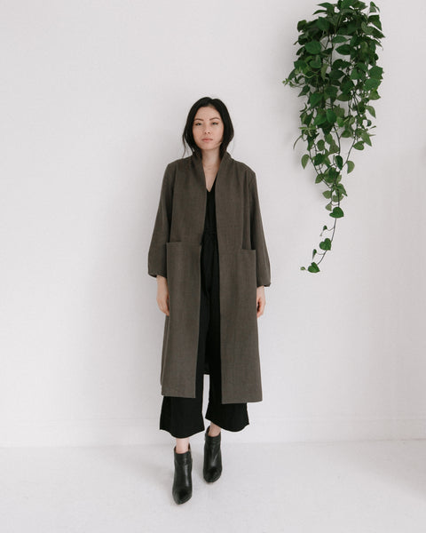 7115 by Szeki Open Fall Coat