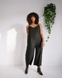 Ali Golden V-Neck Jumpsuit in Black