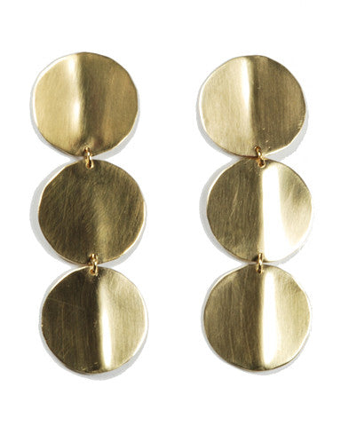 Rachel Gunnard Shape One Earrings Brass