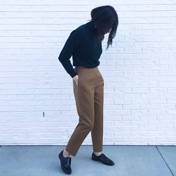 VINTAGE - Camel High Waisted Pant