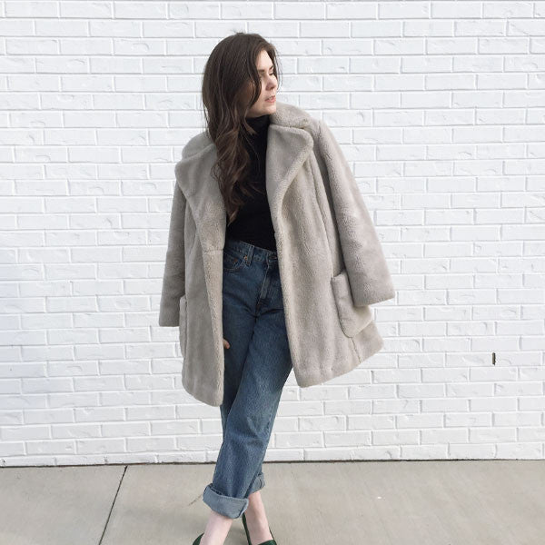 VINTAGE - Faux Fur Coat
