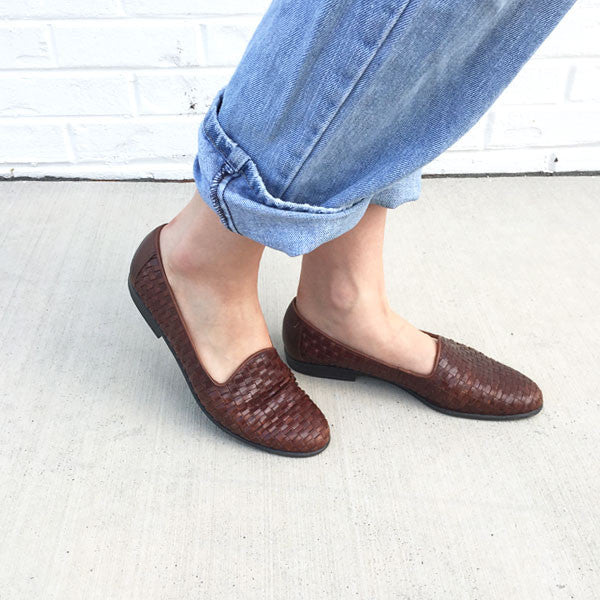 VINTAGE - Woven Leather Flats